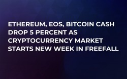 Ethereum, EOS, Bitcoin Cash Drop 5 Percent as Cryptocurrency Market Starts New Week in Freefall