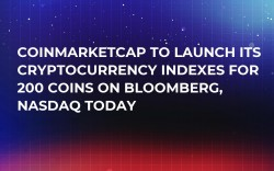 CoinMarketCap to Launch Its Cryptocurrency Indexes for 200 Coins on Bloomberg, NASDAQ Today