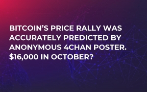 Bitcoin's Price Rally Was Accurately Predicted by Anonymous 4chan Poster. $16,000 in October?