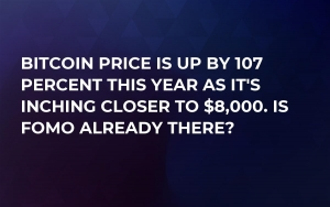 Bitcoin Price Is up by 107 Percent This Year as It's Inching Closer to $8,000. Is FOMO Already There?
