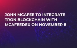 John McAfee to Integrate Tron Blockchain with McAfeeDEX on November 8