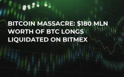 Bitcoin Massacre: $180 Mln Worth of BTC Longs Liquidated on BitMEX