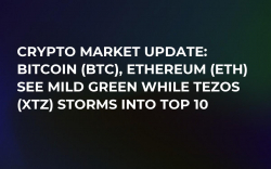 Crypto Market Update: Bitcoin (BTC), Ethereum (ETH) See Mild Green While Tezos (XTZ) Storms into Top 10