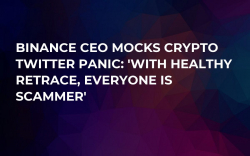 Binance CEO Mocks Crypto Twitter Panic: 'With Healthy Retrace, Everyone Is Scammer'