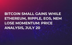 Bitcoin Small Gains While Ethereum, Ripple, EOS, NEM Lose Momentum: Price Analysis, July 20