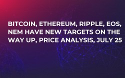 Bitcoin, Ethereum, Ripple, EOS, NEM Have New Targets On The Way Up, Price Analysis, July 25