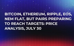Bitcoin, Ethereum, Ripple, EOS, NEM Flat, But Pairs Preparing to Reach Targets: Price Analysis, July 30
