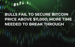 Bulls Fail to Secure Bitcoin Price Above $11,000; More Time Needed to Break Through