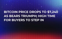 Bitcoin Price Drops to $7,240 as Bears Triumph; High Time for Buyers to Step In