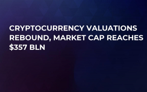 Cryptocurrency Valuations Rebound, Market Cap Reaches $357 Bln
