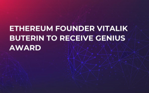 Ethereum Founder Vitalik Buterin To Receive Genius Award