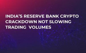 India's Reserve Bank Crypto Crackdown Not Slowing Trading  Volumes