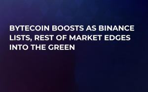 Bytecoin Boosts as Binance Lists, Rest of Market Edges into the Green