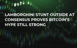Lamborghini Stunt Outside at Consensus Proves Bitcoin's Hype Still Strong