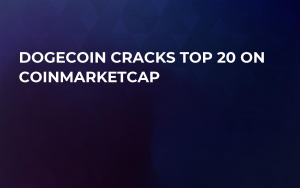 Dogecoin Cracks Top 20 on CoinMarketCap