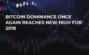 Bitcoin Dominance Once Again Reaches New High For 2018
