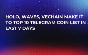 Holo, Waves, VeChain Make It to Top 10 Telegram Coin List in Last 7 Days