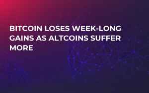 Bitcoin Loses Week-Long Gains as Altcoins Suffer More