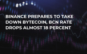 Binance Prepares to Take Down Bytecoin, BCN Rate Drops Almost 18 Percent
