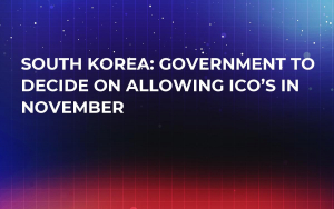 South Korea: Government To Decide On Allowing ICO's In November