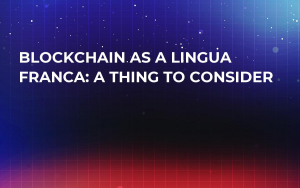 Blockchain As a Lingua Franca: A Thing to Consider