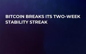 Bitcoin Breaks Its Two-Week Stability Streak