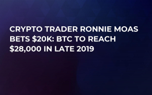 Crypto Trader Ronnie Moas Bets $20K: BTC to Reach $28,000 in Late 2019