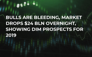 Bulls Are Bleeding, Market Drops $24 Bln Overnight, Showing Dim Prospects for 2019