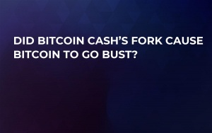 Did Bitcoin Cash's Fork Cause Bitcoin to Go Bust?