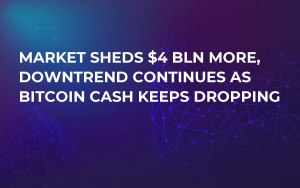 Market Sheds $4 Bln More, Downtrend Continues as Bitcoin Cash Keeps Dropping