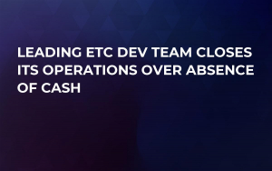 Leading ETC Dev Team Closes Its Operations Over Absence of Cash