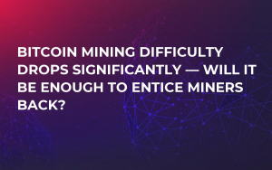 Bitcoin Mining Difficulty Drops Significantly — Will it be Enough to Entice Miners Back?