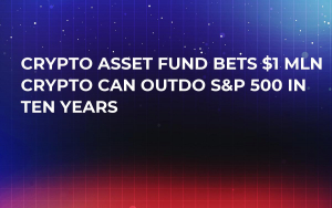 Crypto Asset Fund Bets $1 Mln Crypto Can Outdo S&P 500 in Ten Years