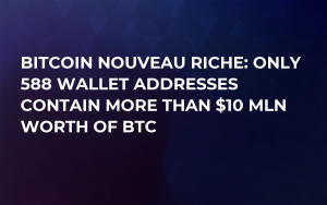 Bitcoin Nouveau Riche: Only 588 Wallet Addresses Contain More Than $10 Mln Worth of BTC