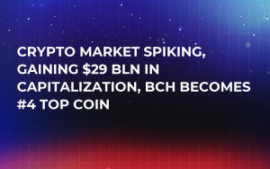 Crypto Market Spiking, Gaining $29 Bln in Capitalization, BCH Becomes #4 Top Coin