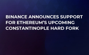 Binance Announces Support for Ethereum's Upcoming Constantinople Hard Fork