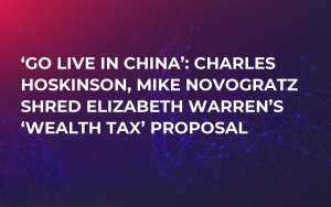 'Go Live in China': Charles Hoskinson, Mike Novogratz Shred Elizabeth Warren's 'Wealth Tax' Proposal
