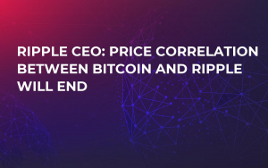 Ripple CEO: Price Correlation Between Bitcoin and Ripple Will End
