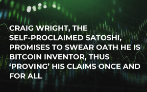 Craig Wright, the Self-Proclaimed Satoshi, Promises to Swear Oath He Is Bitcoin Inventor, Thus 'Proving' His Claims Once and for All