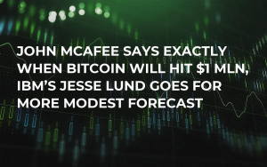 John McAfee Says Exactly When Bitcoin Will Hit $1 Mln, IBM's Jesse Lund Goes for More Modest Forecast