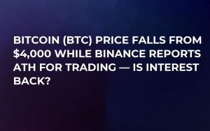 Bitcoin (BTC) Price Falls from $4,000 While Binance Reports ATH for Trading — Is Interest Back?