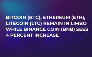 Bitcoin (BTC), Ethereum (ETH), Litecoin (LTC) Remain in Limbo While Binance Coin (BNB) Sees 4 Percent Increase