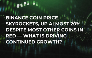 Binance Coin Price Skyrockets, Up Almost 20% Despite Most Other Coins in Red — What Is Driving Continued Growth?