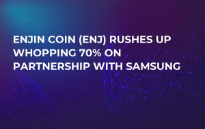Enjin Coin (ENJ) Rushes up Whopping 70% on Partnership with Samsung