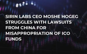Sirin Labs CEO Moshe Hogeg Struggles with Lawsuits from China for Misappropriation of ICO Funds