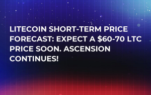 Litecoin Short-Term Price Forecast: Expect a $60-70 LTC Price Soon. Ascension Continues!