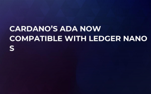 Cardano's ADA Now Compatible with Ledger Nano S