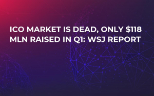 ICO Market Is Dead, Only $118 Mln Raised in Q1: WSJ Report