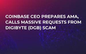 Coinbase CEO Prepares AMA, Calls Massive Requests from DigiByte (DGB) Scam