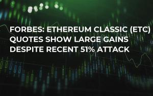 Forbes: Ethereum Classic (ETC) Quotes Show Large Gains Despite Recent 51% Attack